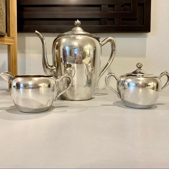 Vintage FB Rogers Silver on Copper Tea Set 2311